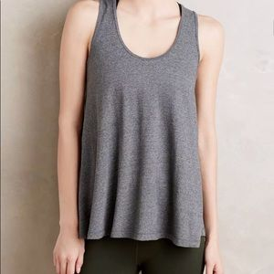 Pure + good gray racerback good sequence tank top